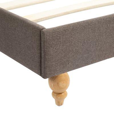 vidaXL Estructura de cama con LED tela gris topo 140x200 cm