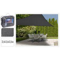 ProGarden Toldo de tela triangular gris oscuro 3,6x3,6x3,6 m