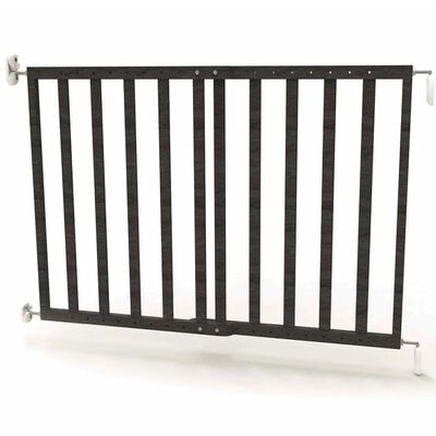 Noma Puerta de seguridad extensible 63,5-106 cm madera gris 94146