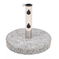 vidaXL Base de sombrilla de granito redonda 22 kg