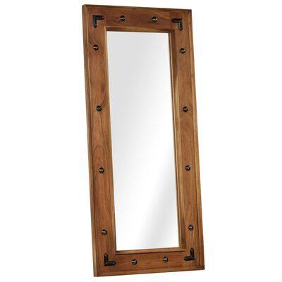 vidaXL Espejo de madera maciza de acacia 50x110 cm