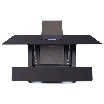 vidaXL Campana extractora con pantalla táctil negro 900 mm