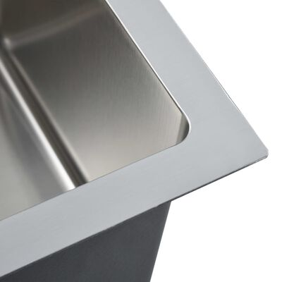 vidaXL Fregadero de cocina hecho a mano acero inoxidable