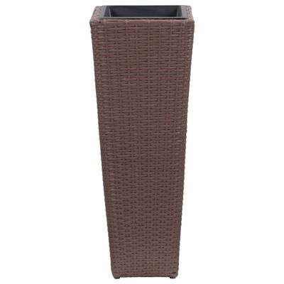 vidaXL Arriate de ratán sintético marrón 30x30x80 cm