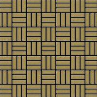 ALLOY Basketweave-Ti-GB Mosaico de metal sólido Titanio oro