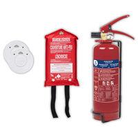 Smartwares Set de protección contra incendios 4 piezas