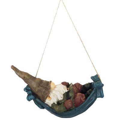 Esschert Design Estatua de gnomo en hamaca 9,4x21,6x13 cm