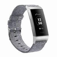 Pulsera Fitbit Charge 3/4 canvas gris - S