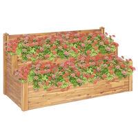 vidaXL Jardinera de 2 niveles madera maciza de acacia 160x75x84 cm
