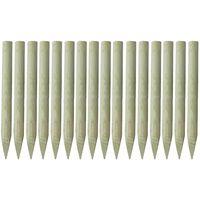 vidaXL Postes de valla puntiagudos 16 uds madera impregnada 100 cm
