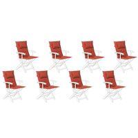 Conjunto de 8 cojines para silla de jardín terracota MAUI