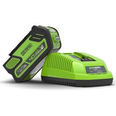 Greenworks Cargador rápido 40 V 4 A