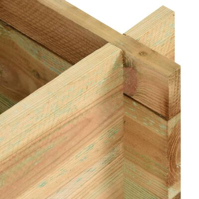 vidaXL Jardinera de verduras madera pino impregnada 80 cm