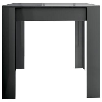 vidaXL Mesa de comedor de aglomerado gris brillante 160x80x76 cm