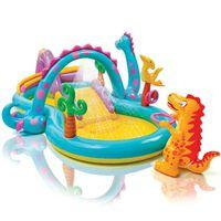Intex Piscina infantil hinchable Dinoland 57135NP 333x229x112 cm