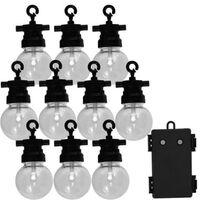 Luxform Juego de luces de fiesta para jardín con 10 LED Fiji