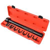 vidaXL Juego instalador/extractor de barra interna 8 piezas