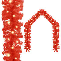 vidaXL Guirnalda de Navidad con luces LED rojo 20 m