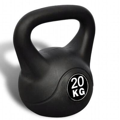 vidaXL Pesa kettlebell 20 kg