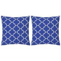 vidaXL Cojines con estampado 2 unidades algodón azul 40x40 cm