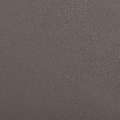 vidaXL Cama con colchón cuero sintético gris y blanco 180x200 cm
