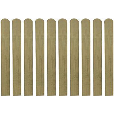 vidaXL Valla de jardín de listones 10 piezas madera 80 cm