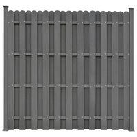 vidaXL Panel de valla con 2 postes WPC gris 180x180 cm