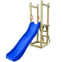 vidaXL Parque infantil de jardin con tobogán y escalera madera de pino