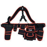 YATO Cinturón de herramientas con tirantes poliéster 128 cm