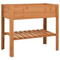 vidaXL Jardinera de madera de abeto 88x43x80 cm
