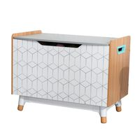 KidKraft Caja para juguetes Mid-Century Modern gris 73,99x46x55,88 cm