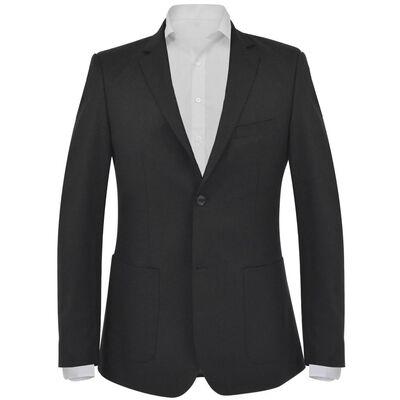 vidaXL Chaqueta de negocios para hombre talla 54 negra