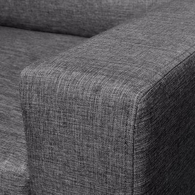 vidaXL Juego de sofás para 5 personas 2 unidades tela gris oscuro