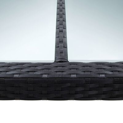 vidaXL Mesa de comedor de jardín ratán sintético negro 200x200x74 cm