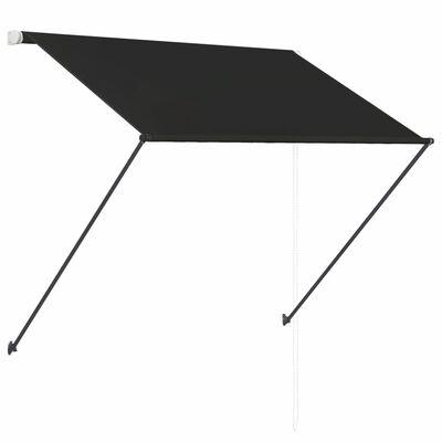 vidaXL Toldo retráctil con LED gris antracita 150x150 cm