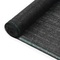 vidaXL Toldo para pista de tenis HDPE 1,6x25 m negro