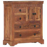 vidaXL Aparador de madera maciza de acacia 62x30x75 cm