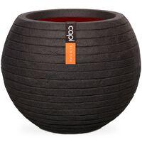 Capi Jarrón en forma de bola Nature Row 62x48 cm negro KBLRO271