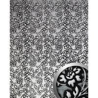 Wallface 13412-sa Panel De Pared Floral Plata
