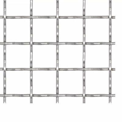 vidaXL Panel de malla alambre rizado acero inox. 100x85 cm 11x11x2 mm