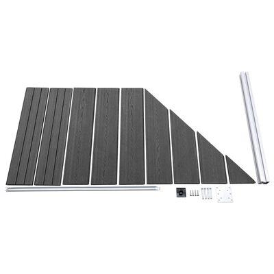 vidaXL Set de paneles de valla WPC negro 792x(105-186) cm