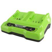 Greenworks Cargador doble ranura 24 V 2 A