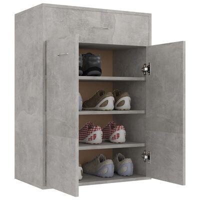 vidaXL Mueble zapatero de aglomerado gris hormigón 60x35x84 cm