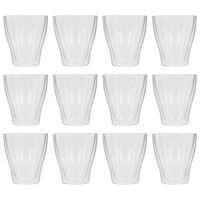 vidaXL Vasos cristal térmico doble pared café con leche 12 uds 280ml