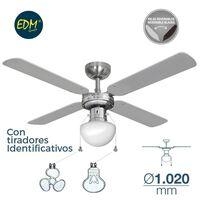 Ventilador De Techo Modelo Caribe 50W Ø 85Cm Edm Cromado 65M3/Min