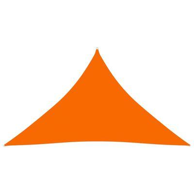 vidaXL Toldo de vela triangular de tela oxford naranja 3,5x3,5x4,9 m