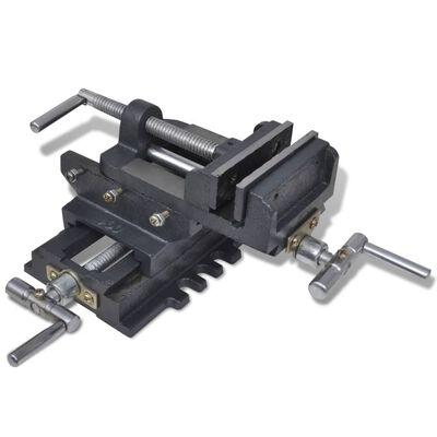 vidaXL Tornillo de banco manual carro transversal 78 mm