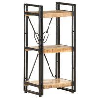 vidaXL Estantería de 3 niveles madera maciza de mango 40x30x80 cm