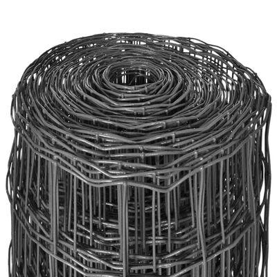vidaXL Euro Valla acero gris 25x1 m