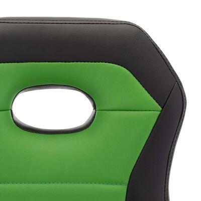 vidaXL Taburetes de cocina 2 unidades cuero sintético verde